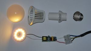 disassembled LED lamp